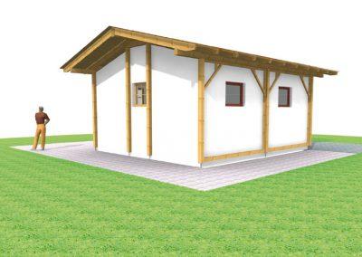 Neues Dach auf einem Gartenhaus in Straßlach
