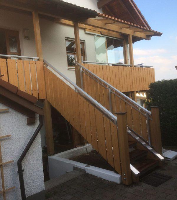 Modernisierter Balkon